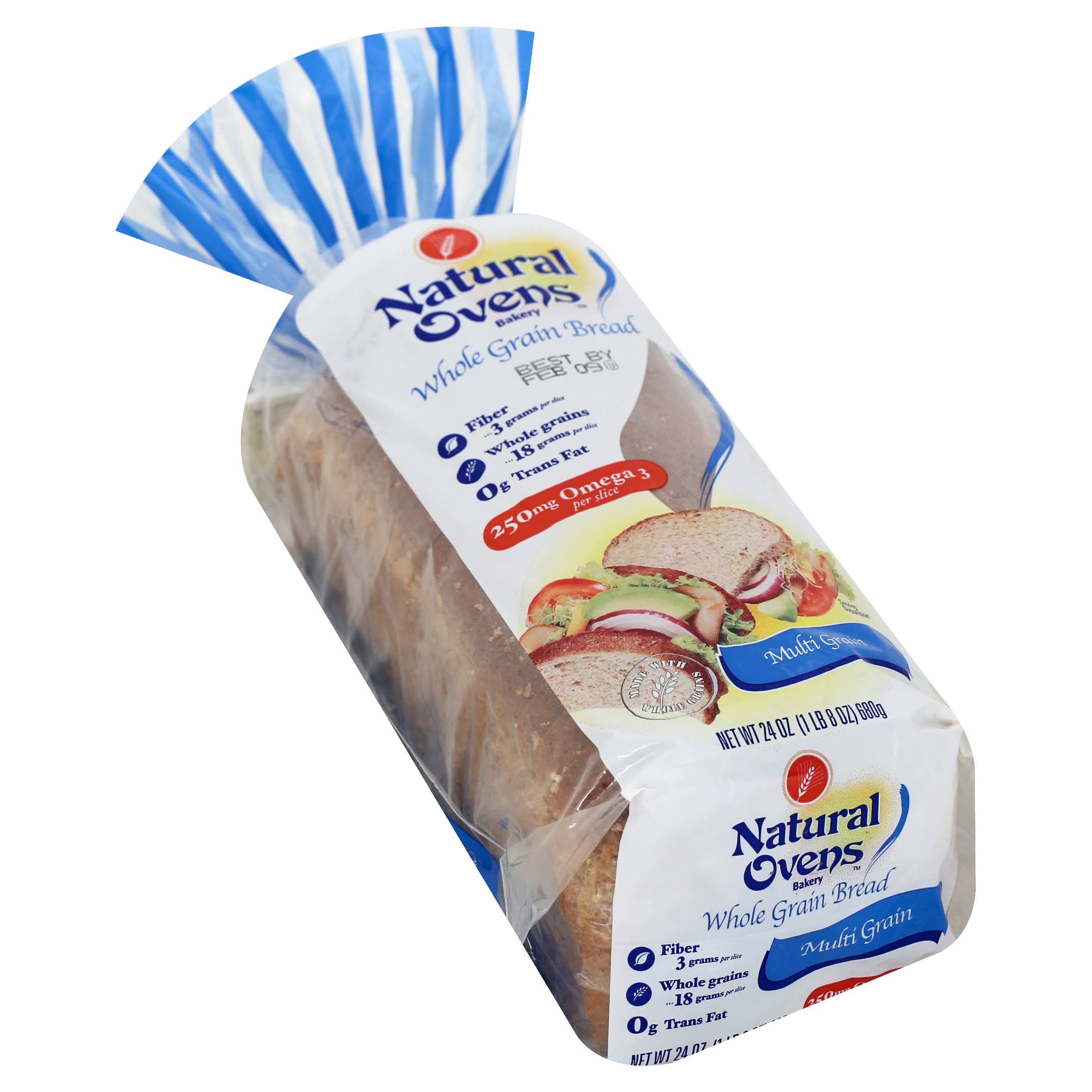 Natural Ovens Multigrain Bread - 24 oz loaf