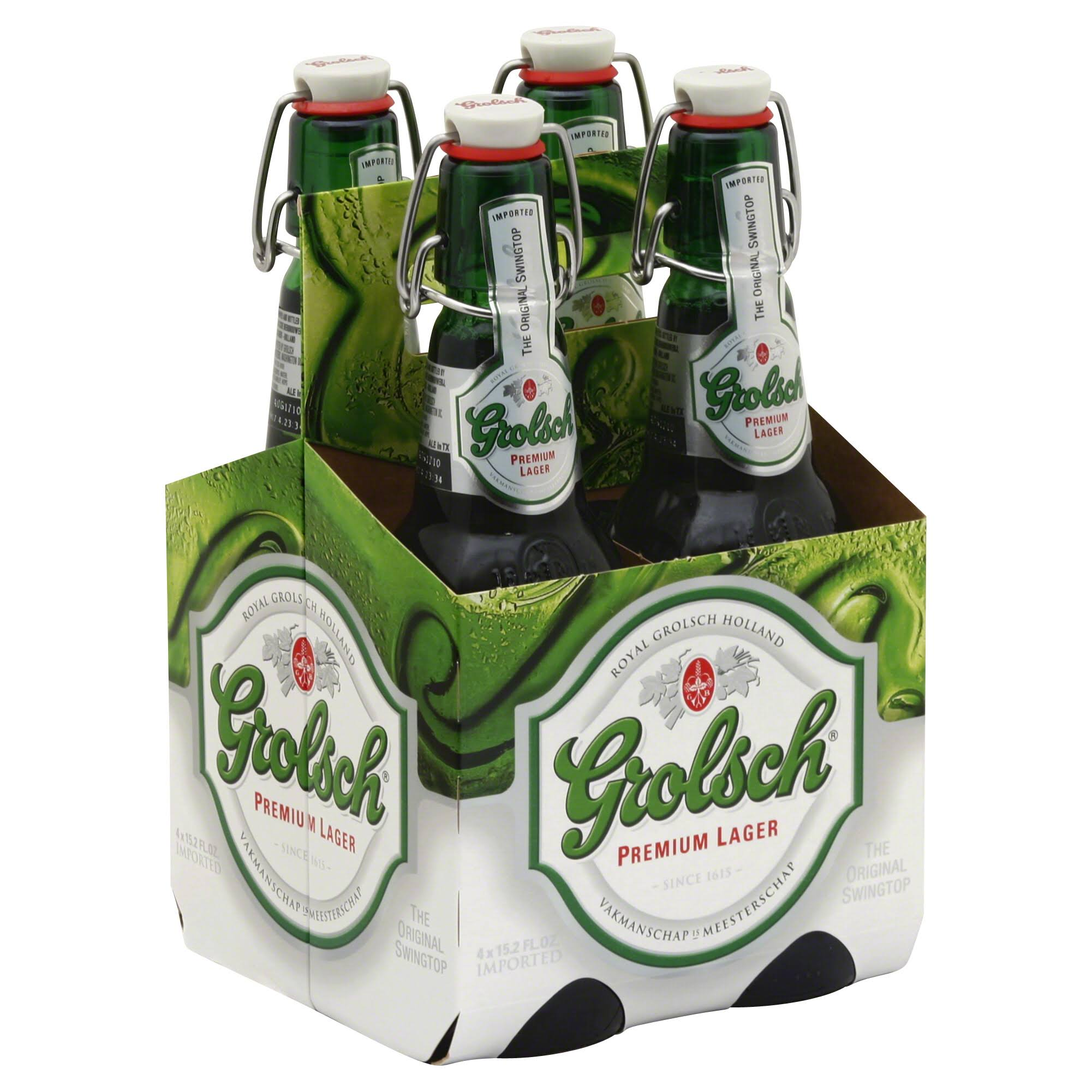 Grolsch Swingtop Beer - 4 x 16oz
