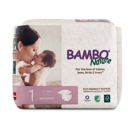 Bambo Nature Premium Baby Diapers - Size 1, 28ct, 4-11lbs