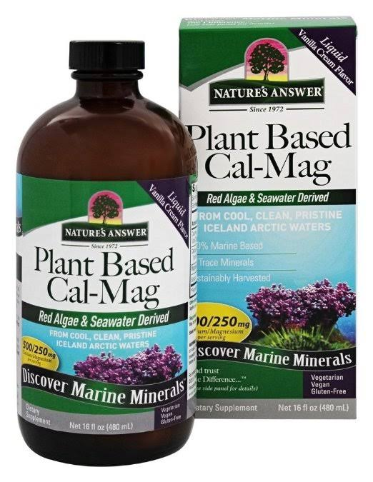 Nature's Answer Plant Based Calcium Magnesium Dietary Supplement - 16oz