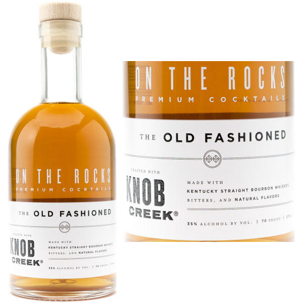 On The Rocks Whiskey, The Old Fashioned - 375 ml