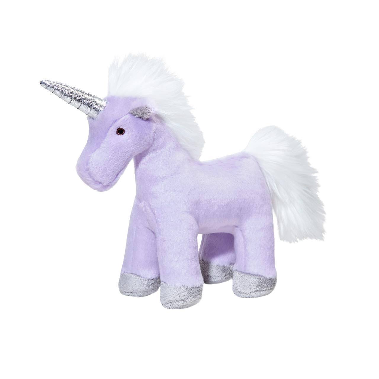 Fluff & Tuff Violet Unicorn Dog Toy