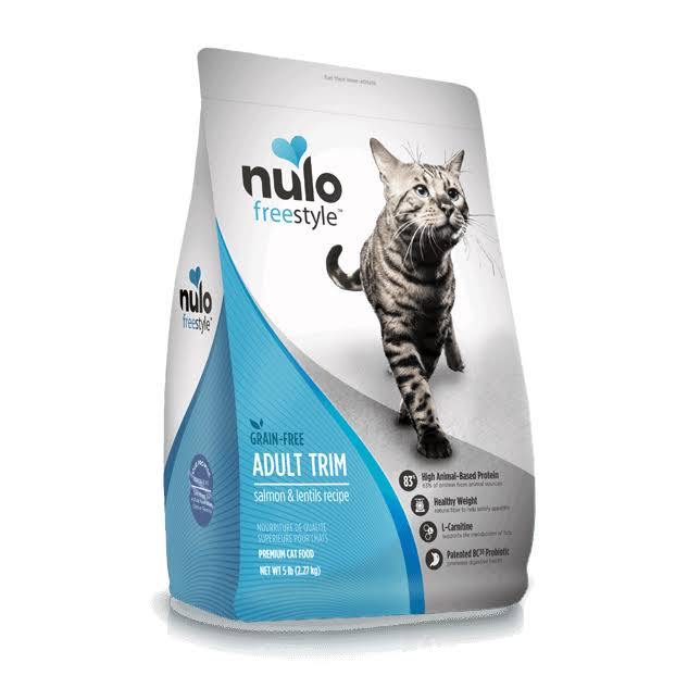 Nulo Freestyle Adult Trim Grain-Free Dry Cat Food - Salmon and Lentils, 5lb