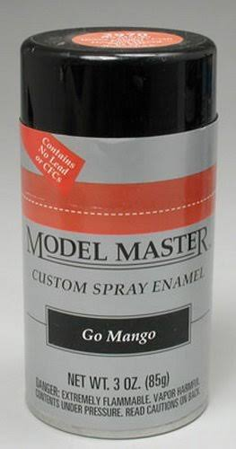 Model Master Spray Go Mango Enamel Paint 3 oz Testors 297006