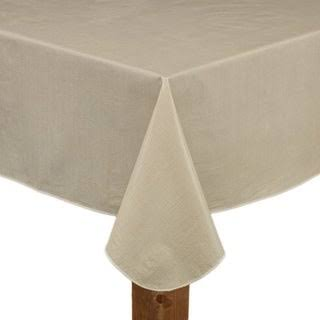 Cafe Deauville Vinyl Tablecloth 70 Round Sand