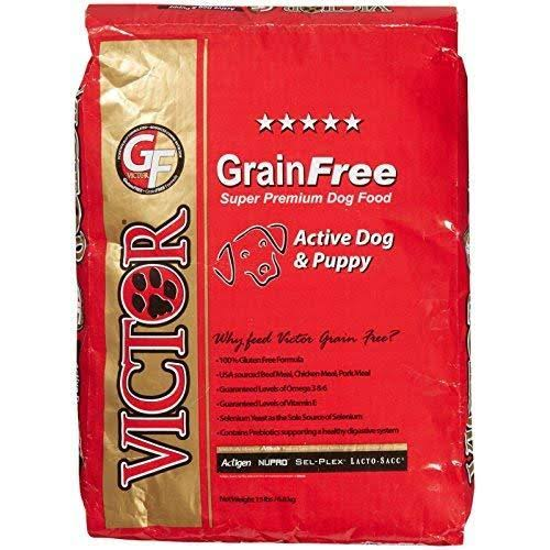 Victor Grain-Free Active Dog and Puppy Beef Meal and Sweet Potato Dog Food - 15lb