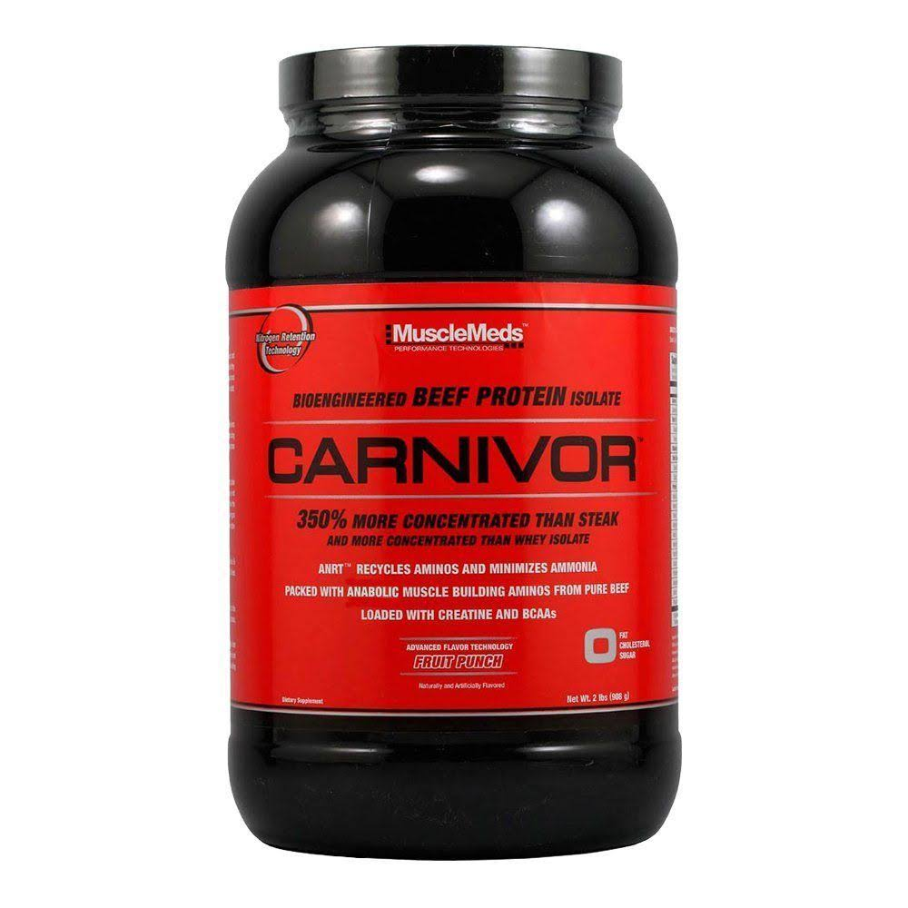 Muscle Meds Carnivor Beef Protein - Fruit Punch, 908g