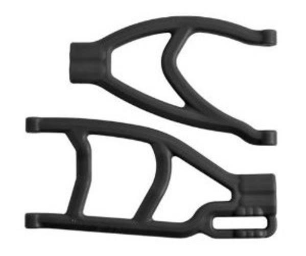 RPM 70482 Extended Right Rear A Arms - Black, Scale 1:10
