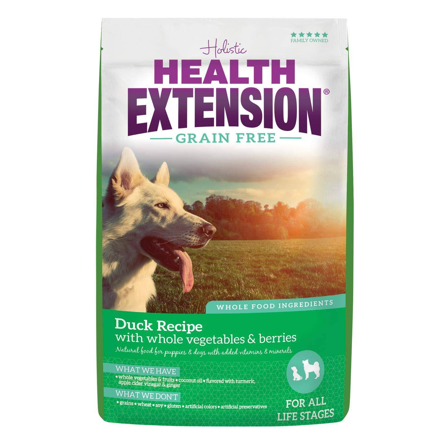 Health Extension 587166 Grain Free Pet Food Formula - Duck and Chickpea, 10lbs