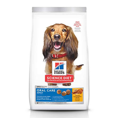 Hill's Science Diet Oral Care Premium Natural Adult Dog Food - Chicken, Rice & Barley Recipe, 4lb