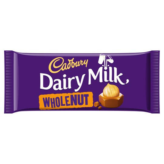 Cadbury Dairy Milk Chocolate Bar - Whole Nut, 120g