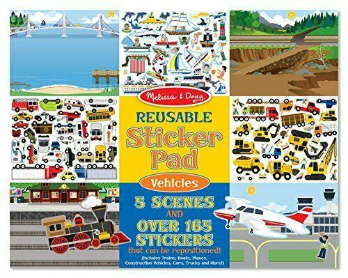 Melissa & Doug Reusable Sticker Pad - Vehicles