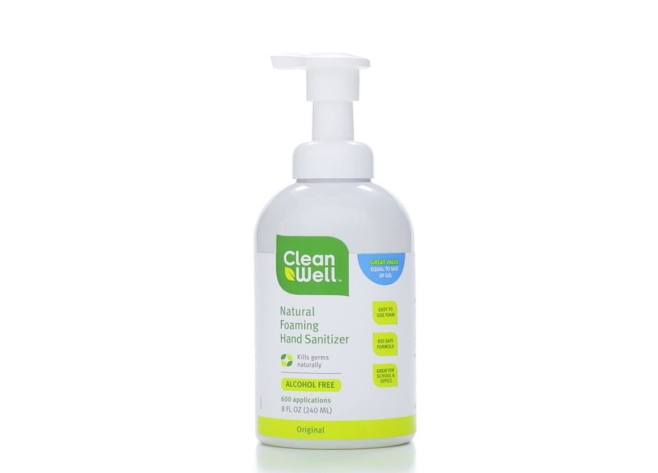 CleanWell All-Natural Foaming Hand Sanitizer - 240ml