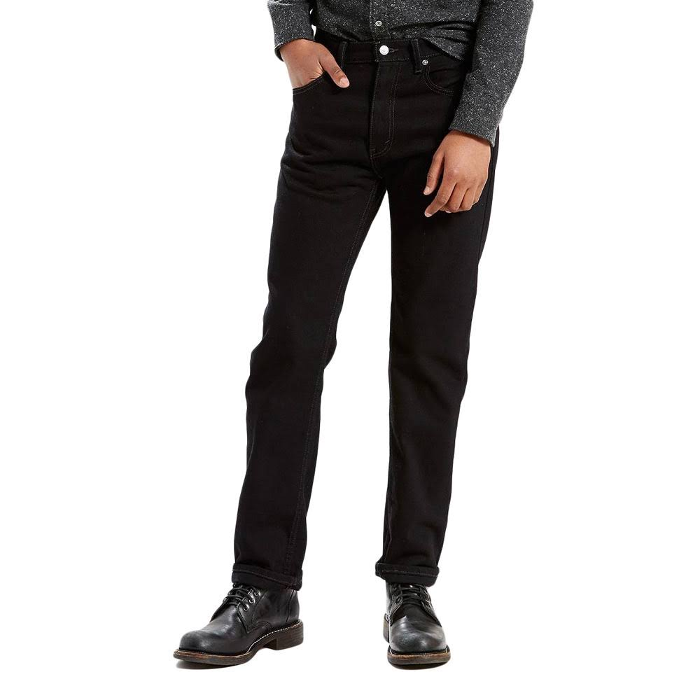 Levi's 505 Regular Fit Jeans - Men's - Black 44x32