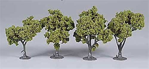 Woodland Scenics Assembled Tree - Light Green, 4 Pack