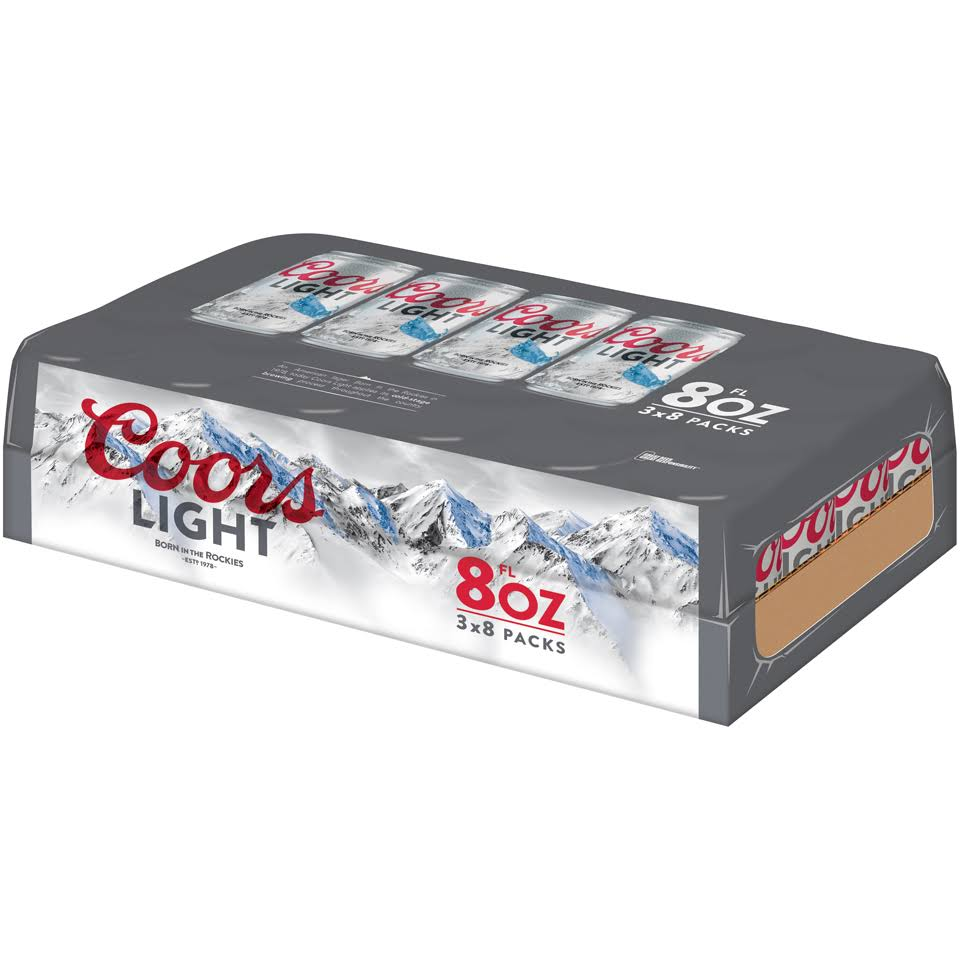 Coors Light Beer 24-8 Fl. Oz. Cans