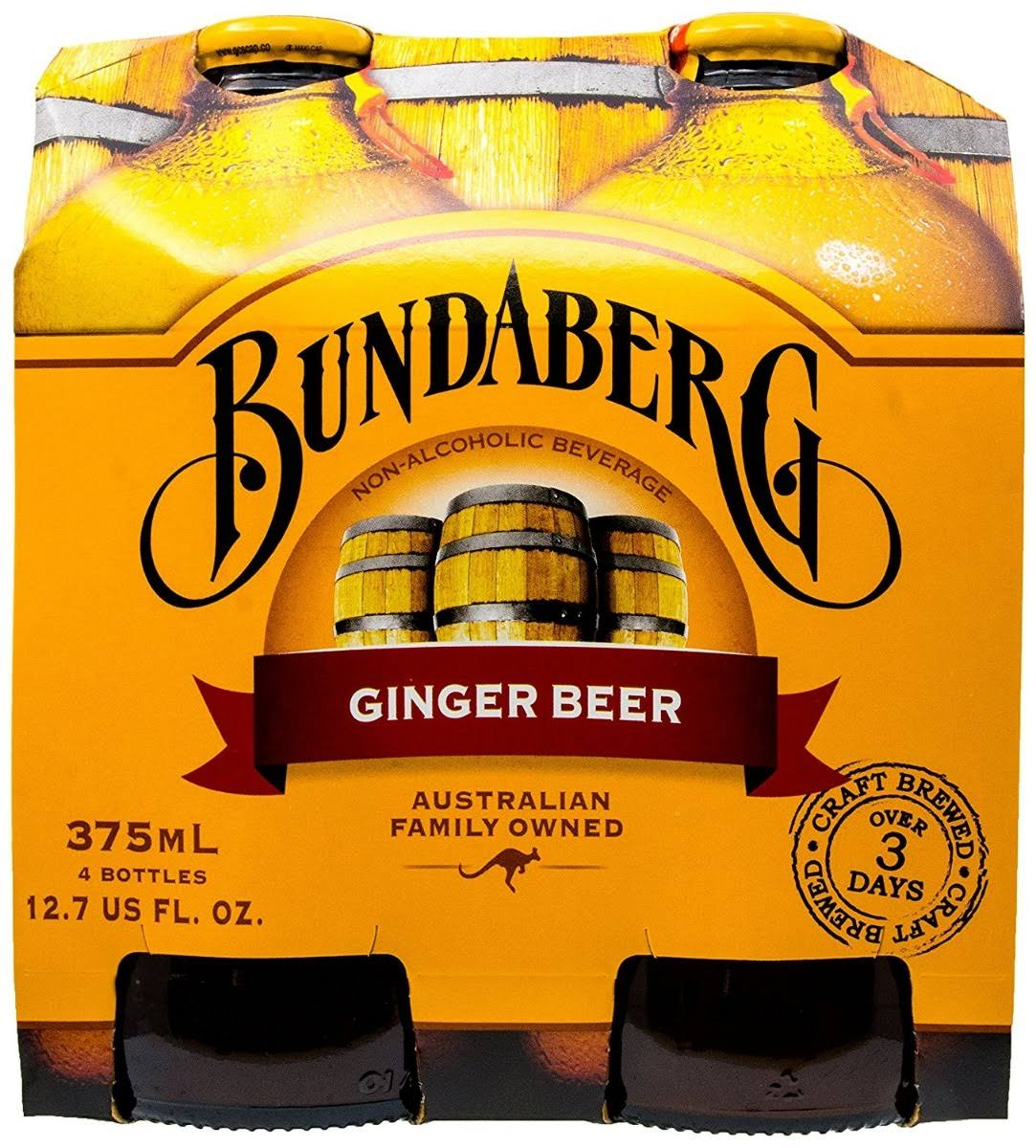 Bundaberg Ginger Beer - 4 pack, 12.7 fl oz each