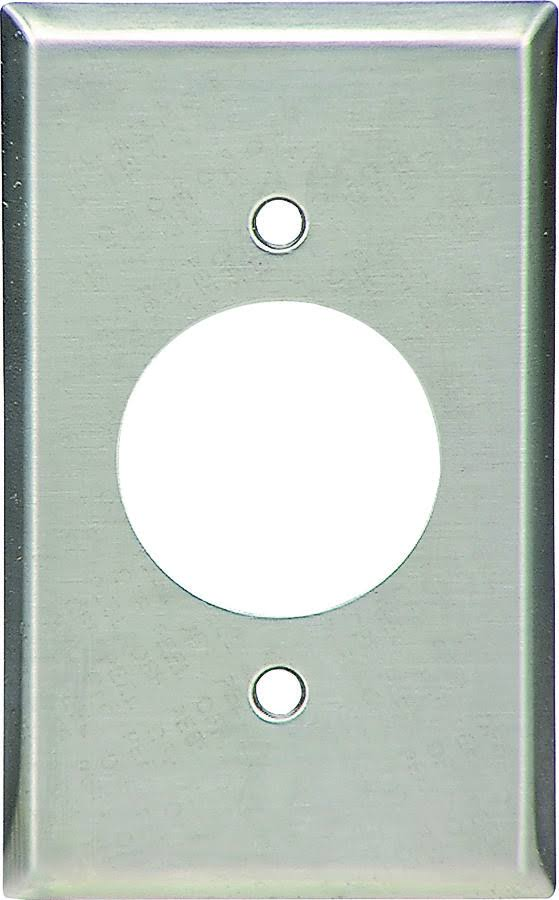 Eaton Wiring Devices 93111-BOX Standard-Size Power Outlet Wallplate, 1-Gang, 302 Stainless Steel