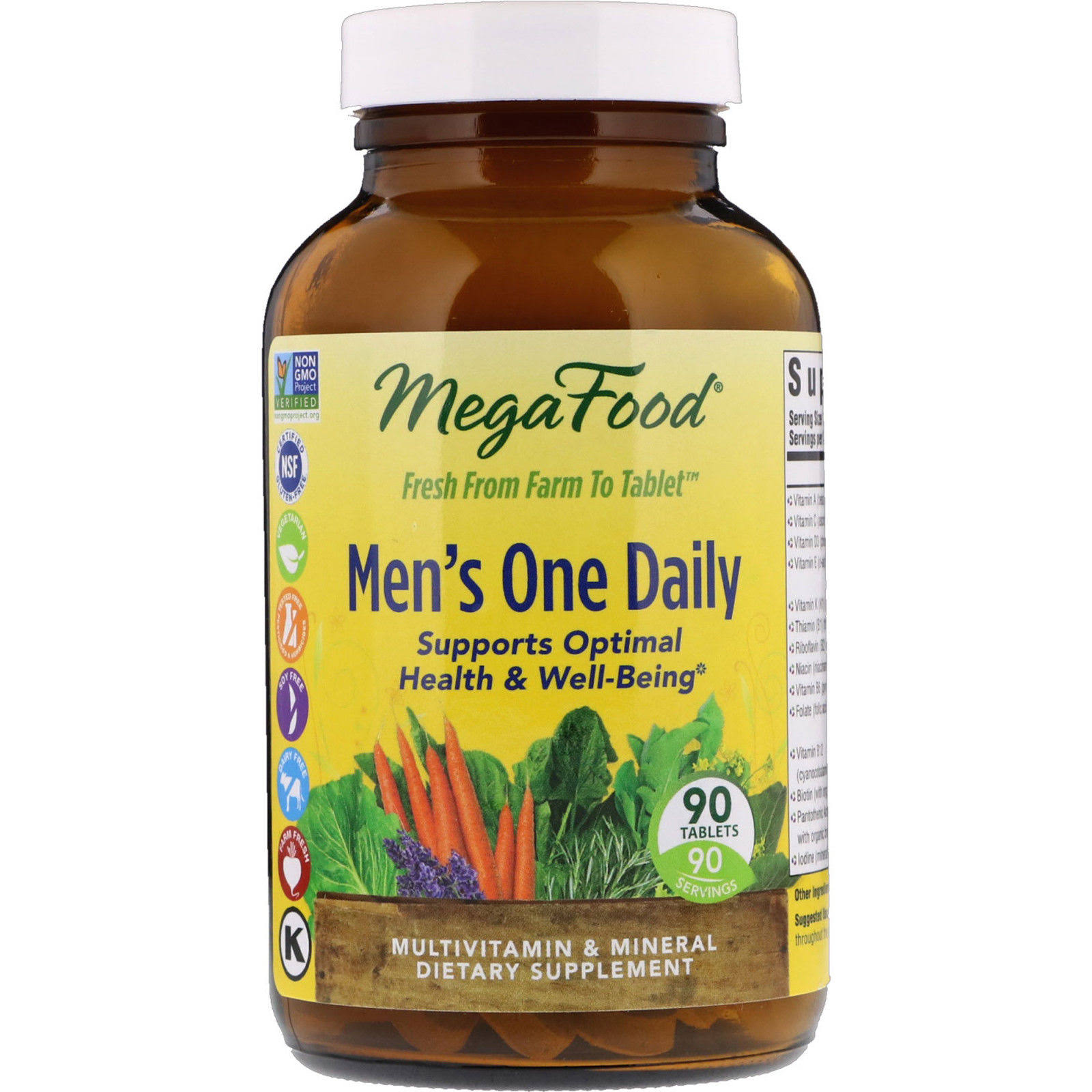 Megafood Men´s One Daily Dietary Supplement - 90 Tablets