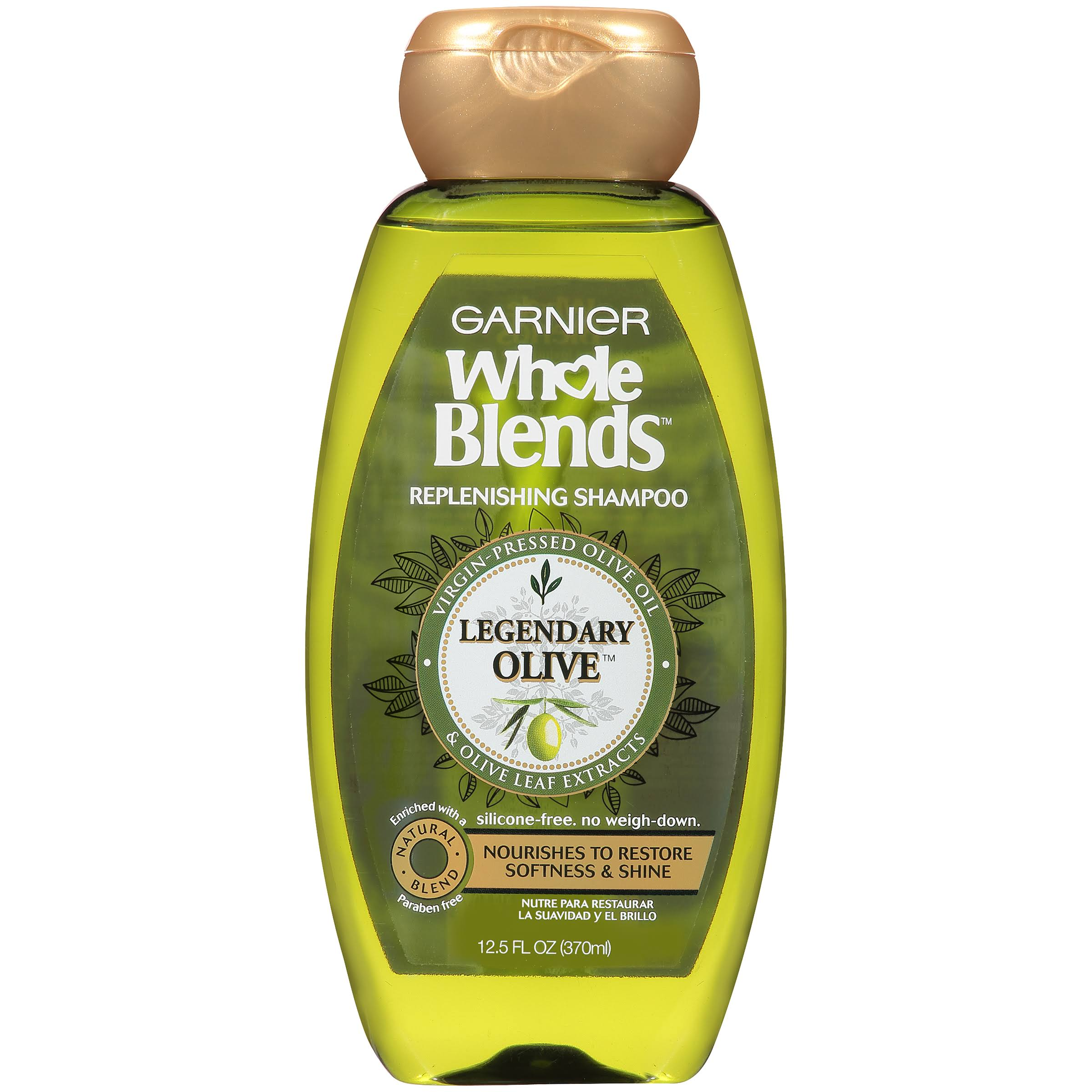 Garnier Whole Blends Replenishing Shampoo - 12.5oz, Legendary Olive