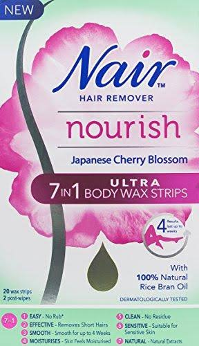 Nair Hair Remover Nourish 7 in 1 Ultra Body Wax Strips - Japanese Cherry Blossom