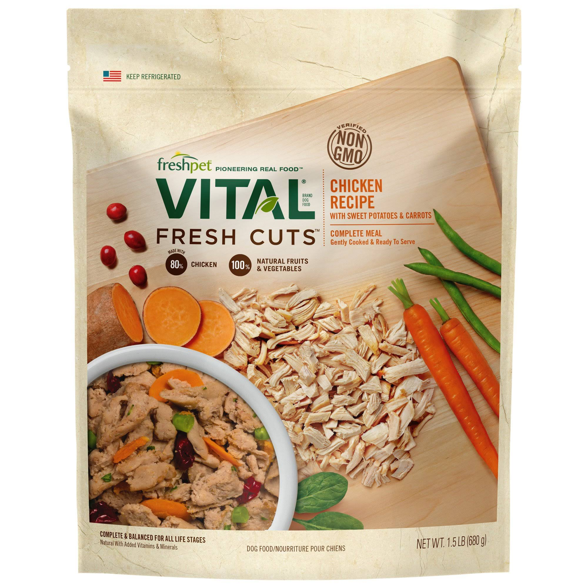 Vital Fresh Cuts Complete Dog Meal - Chicken Recipe, 1.5lbs