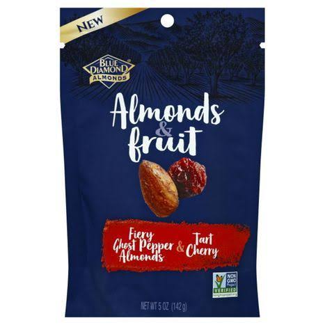 Blue Diamond Almonds & Fruit, Fiery Ghost Pepper Almonds & Tart Cherry - 5 oz