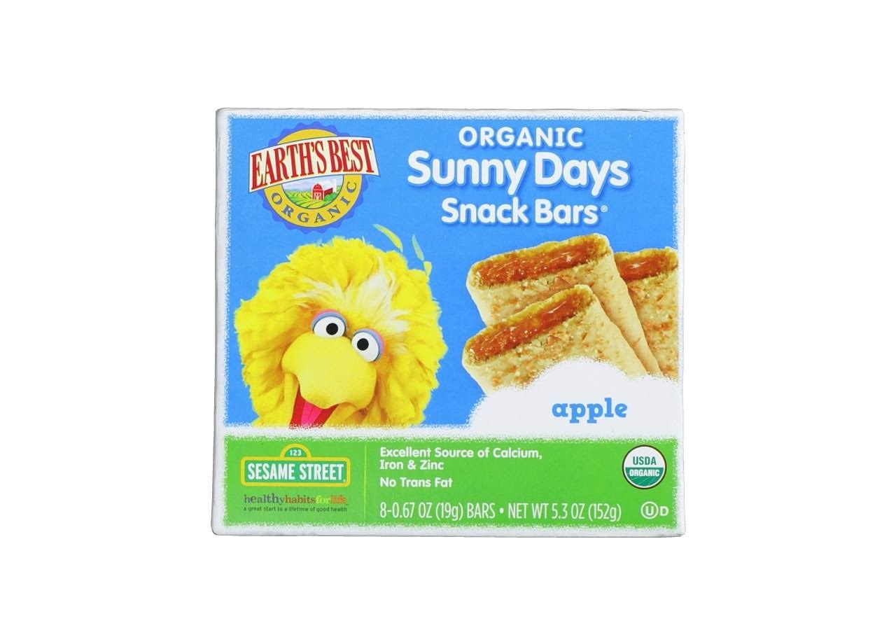 Earth's Best Organic Sunny Days Snack Bars - Apple, 8ct, 5.3oz