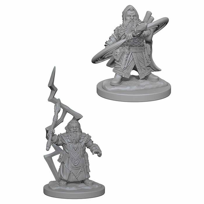 WizKids Games Pathfinder Dwarf Male Sorcerer Deep Cuts Unpainted Miniatures