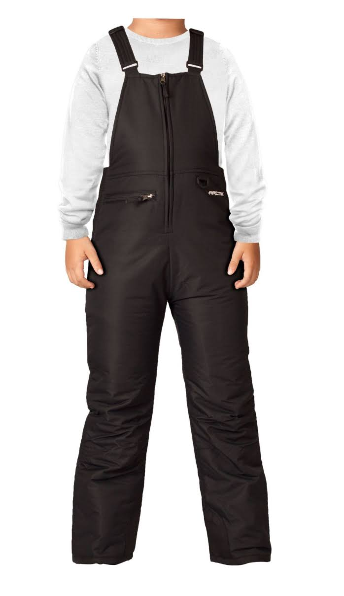 Arctix Youth Classic Overalls Snow Bib - Black, Medium