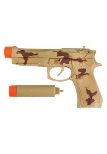 Maxx Action Commando Series Pistol Toy - 9mm, with Silencer