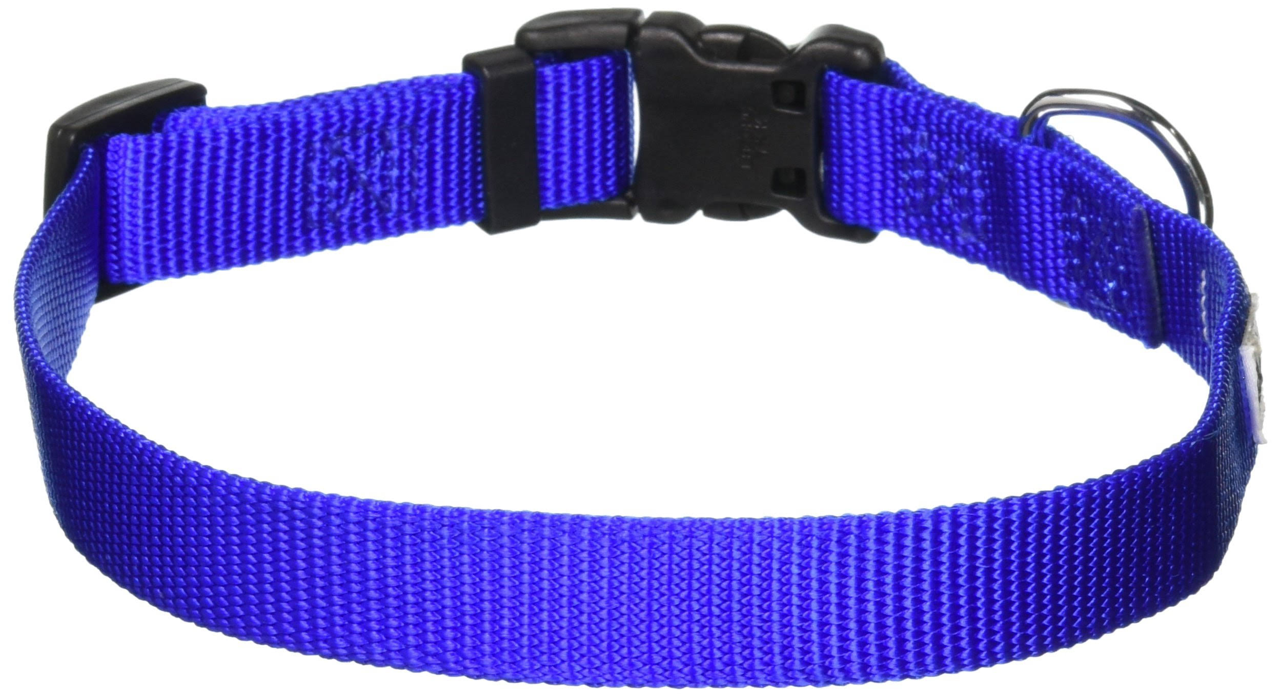 "GoGo Pet Products Comfy Nylon Adjustable Pet Dog Collar - Medium, Blue, 3/4"" x 14-20"""