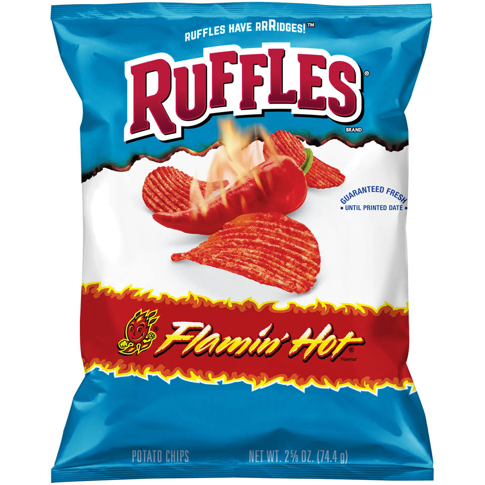 Ruffles Potato Chips Snacks - Flamin' Hot, 2.5oz