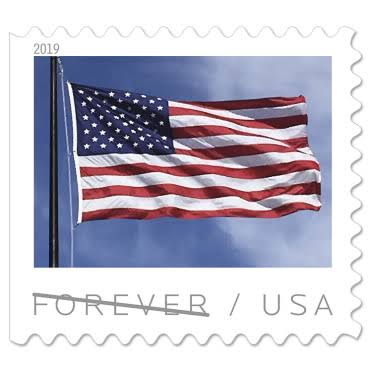 USPS Forever Stamps: U.S. Flag - Book of 20 Stamps