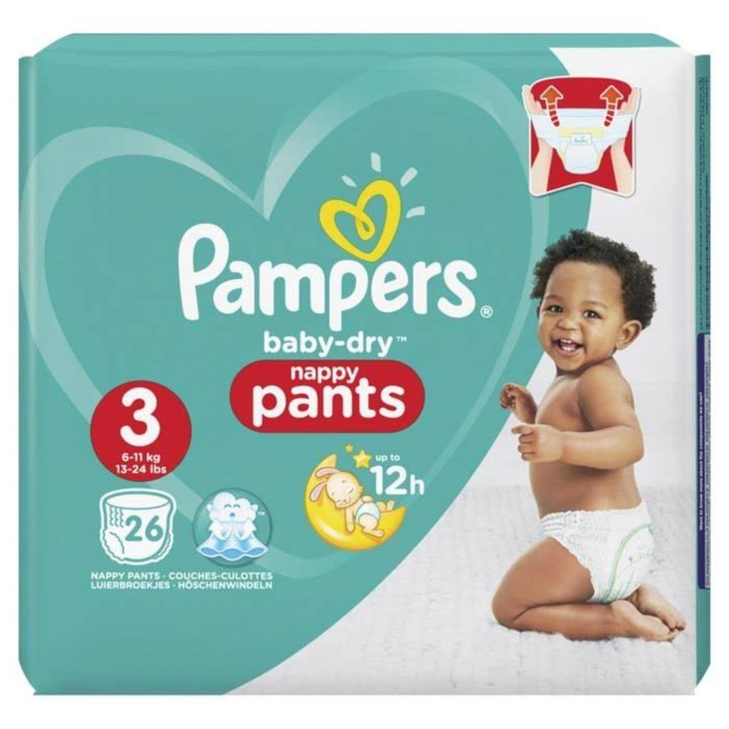 Pampers Baby-Dry Nappy Pants - Size 3, 26ct