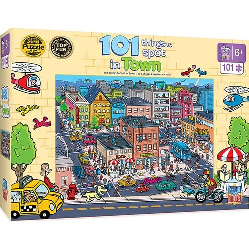 Masterpieces 101 Things to Spot - in Town 101pc Puzzle