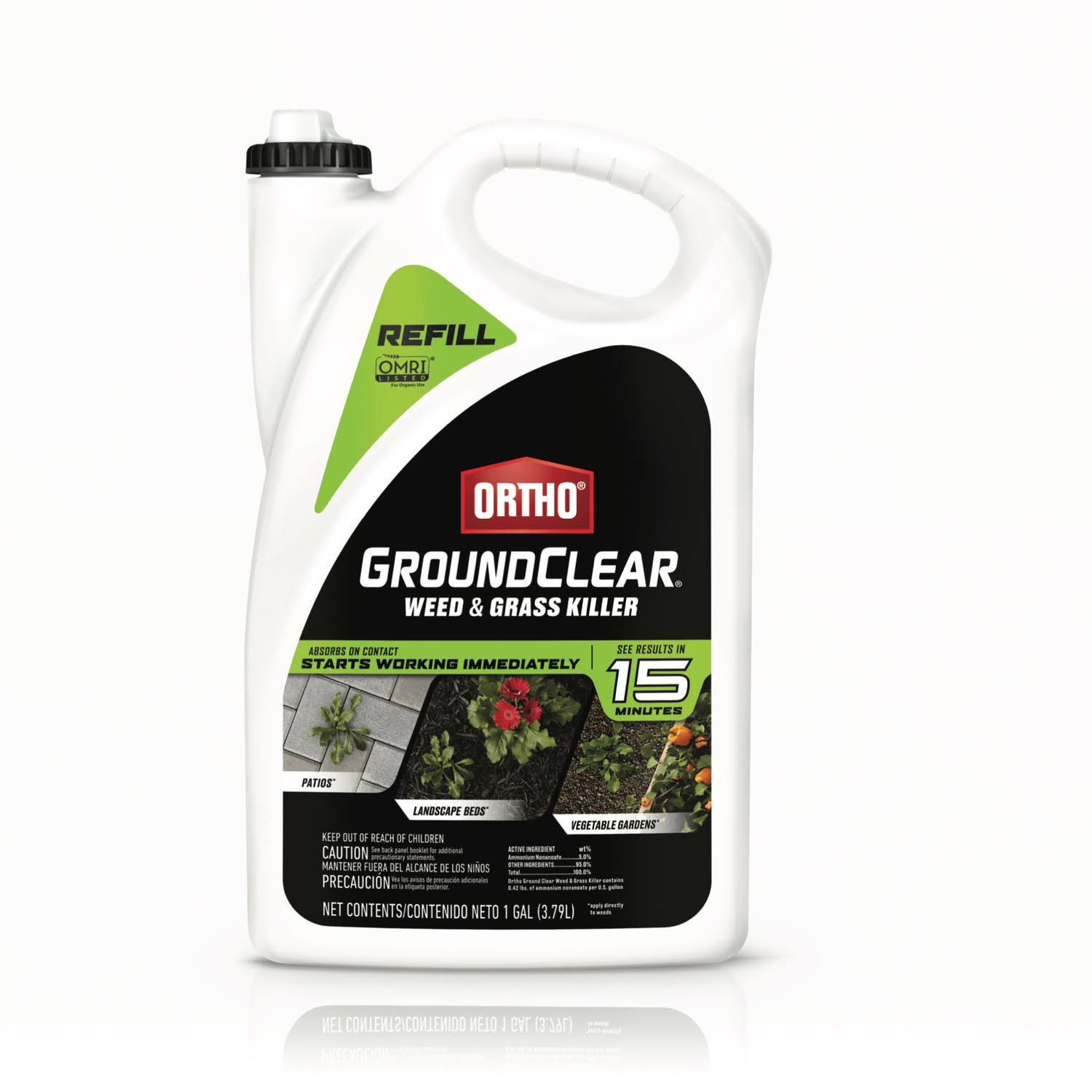 Ortho 4613504 GroundClear Weed and Grass Killer Refill, 1 Gallon