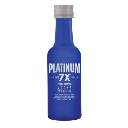 Platinum Vodka, Extra Smooth, 7x Distilled - 50 ml