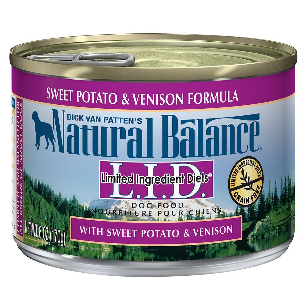 Natural Balance Lid Canned Dog Food - Sweet Potato and Venison, 6oz