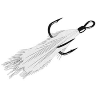Gamakatsu Dressed Treble Hook White / 4 - White/White
