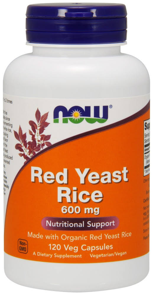Now Foods Red Yeast Rice Extract Supplement - 120 Vcaps