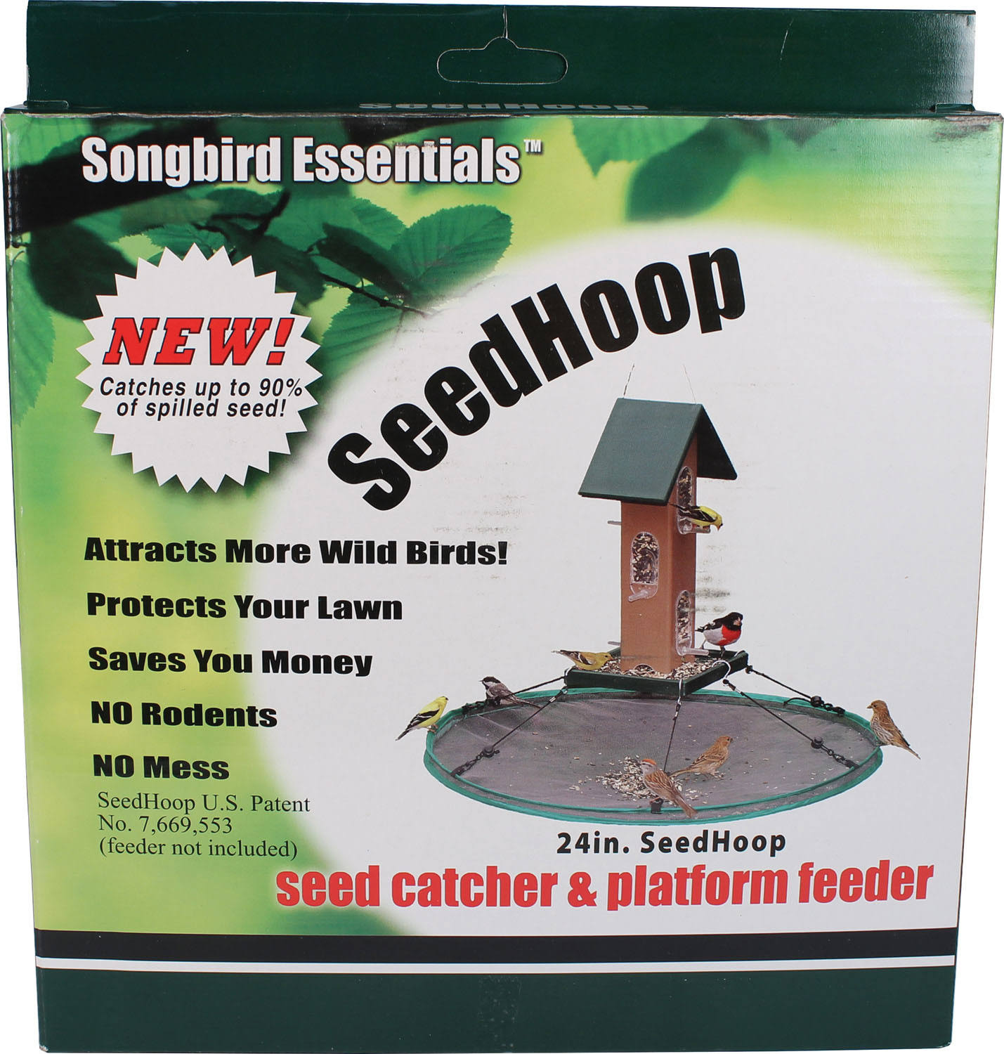 Songbird Essentials Green Seedhoop Seed Catcher 24 inch
