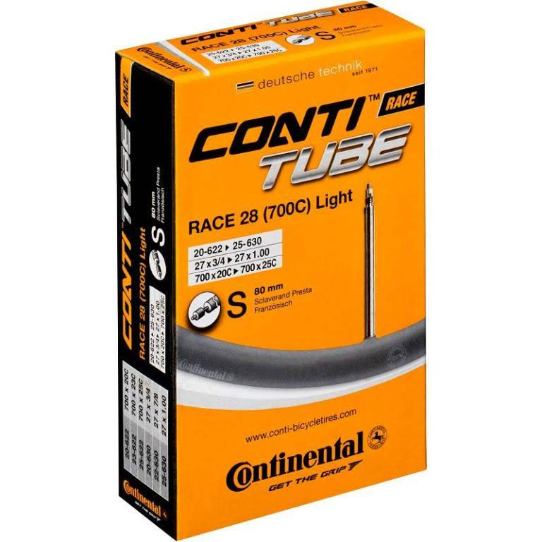 Continental Race Light Presta Valve Tube - 60mm, Size 700x18-25