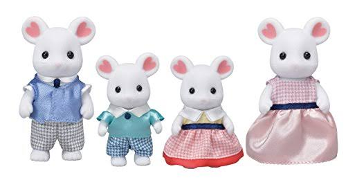 Sylvanian Families Calico Critters Marshmallow Mouse Family Miniature