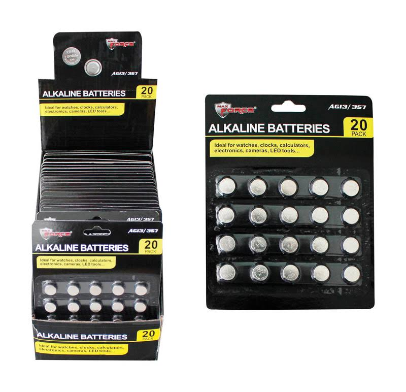Diamond Visions 6727291 Alkaline Button Cell battery, AG13 & 357 - Pack of 20