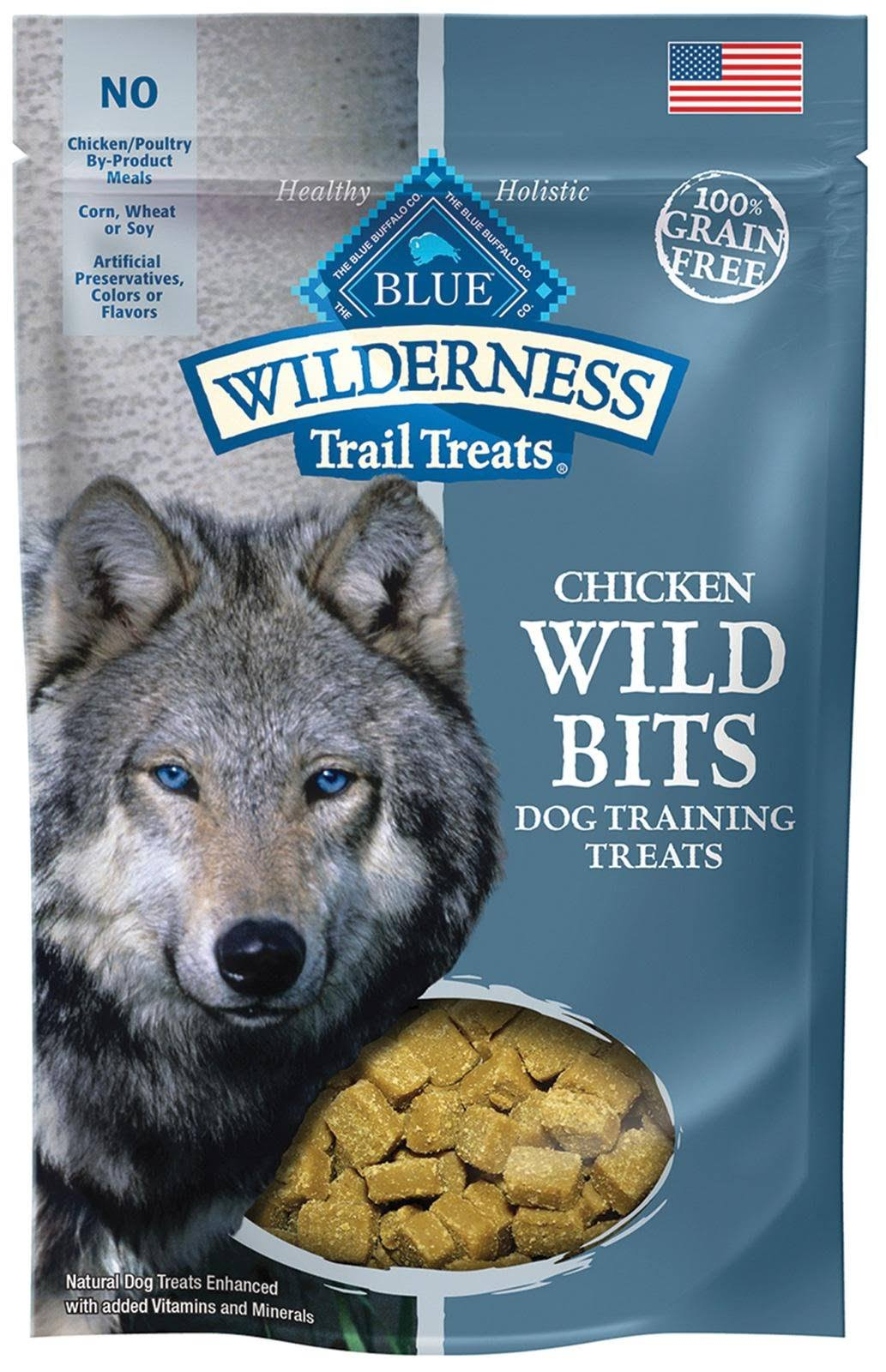 Blue Buffalo Wilderness Chicken Wild Bits Dog Training Treats - 4oz