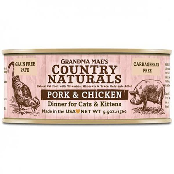 Grandma Maes Country Naturals Cat Food - Pork & Chicken