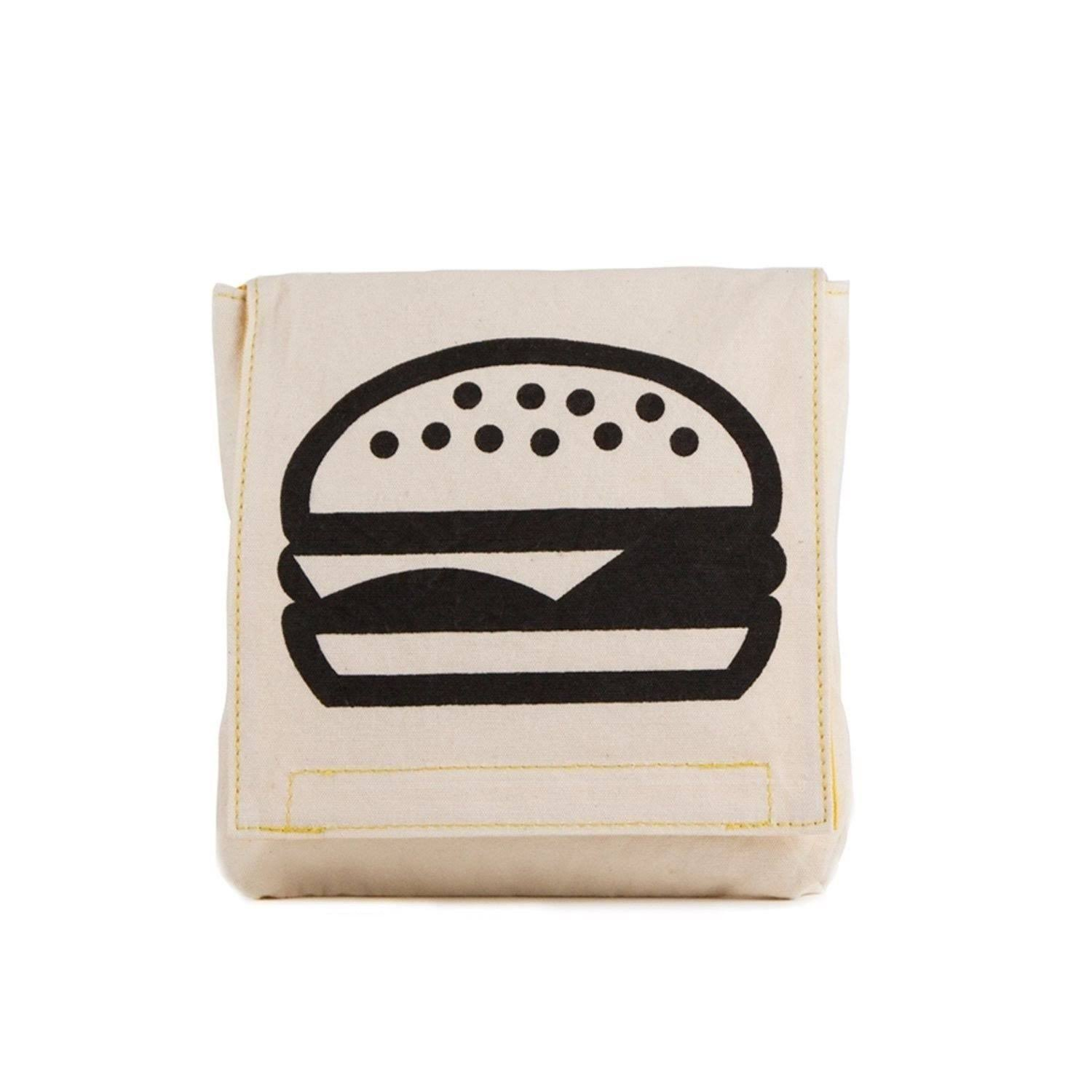 Fluf Organic Cotton Single Snack Pack Lunch Bag Burger