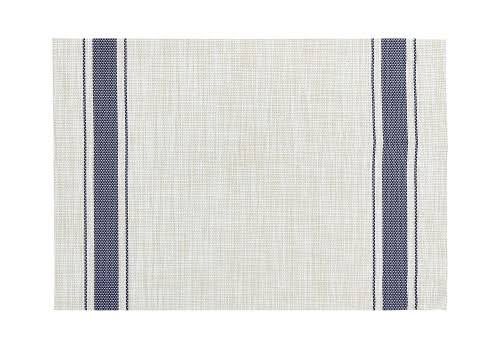"Bistro Stripe Vinyl Placemat - Rectangle 13""x19"", 6ct"