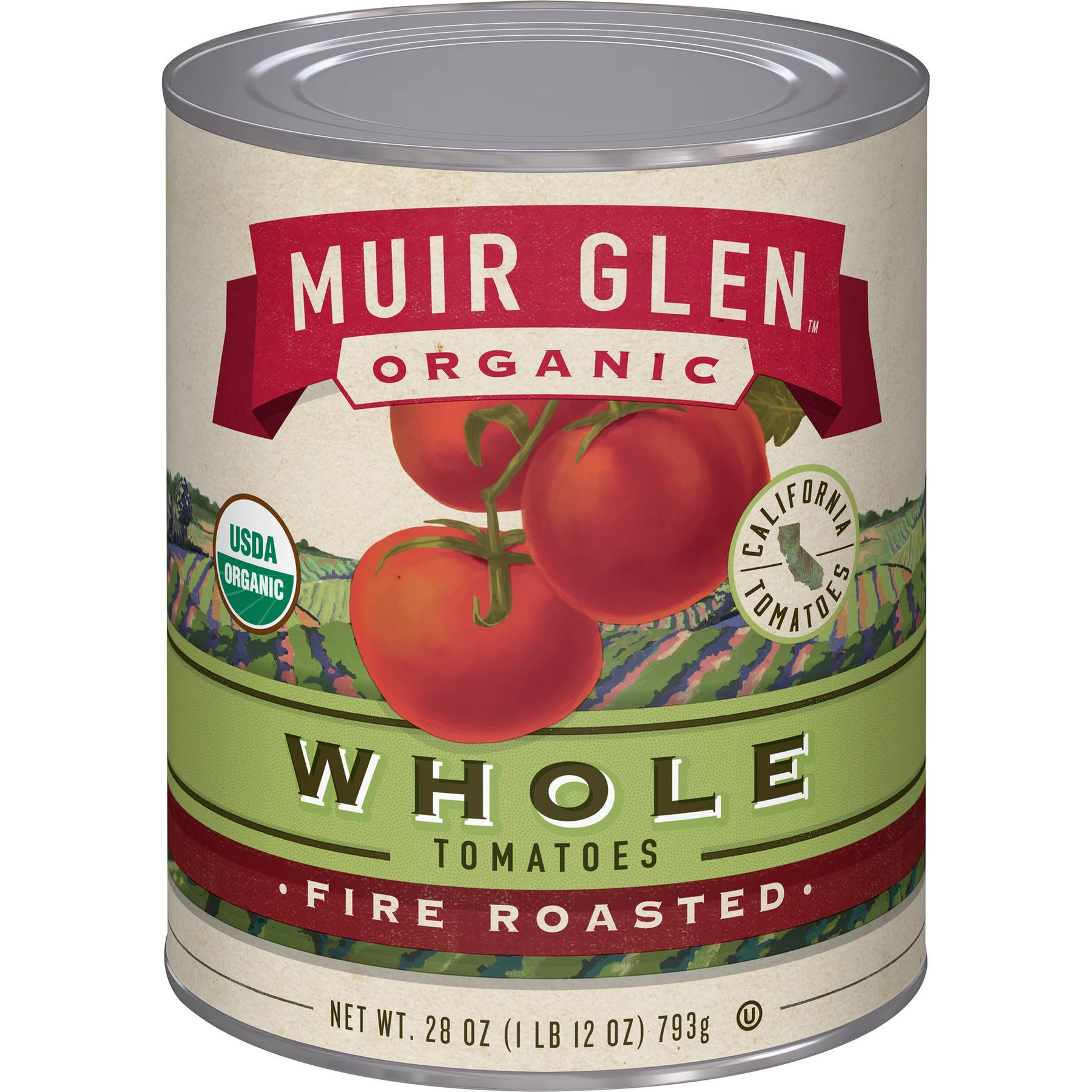 Muir Glen Organic Tomatoes - Whole, Fire Roasted, 794g